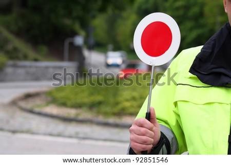 police control - stock photo