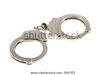 Police Hand Cuffs - stock photo