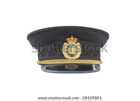police hat - stock photo