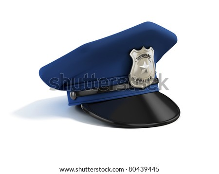 police hat 3d illustration - stock photo