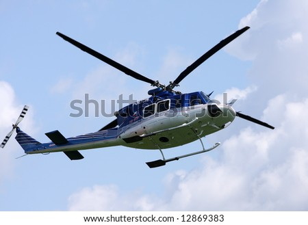 Police helicopter - stock photo