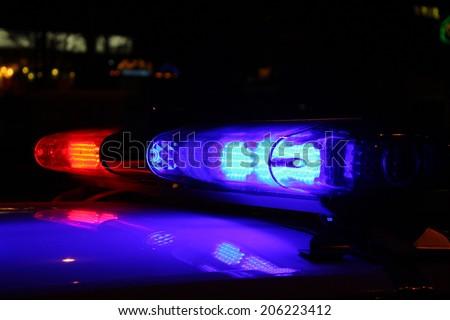 Police lights - stock photo