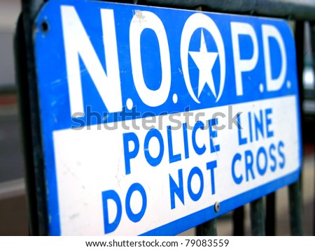 Police Line in New Orleans - stock photo