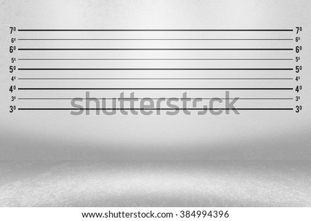 Police Line Up Wall Background - stock photo