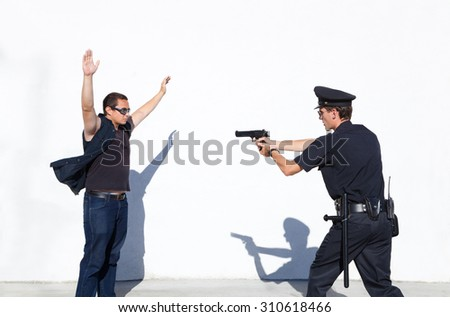 Police Officer on duty - stock photo