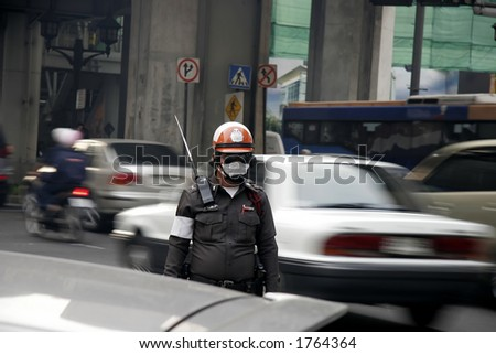 Police working the streets - stock photo