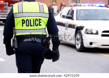 Policeman - stock photo