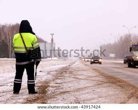 Policeman  clothes   uniform - stock photo