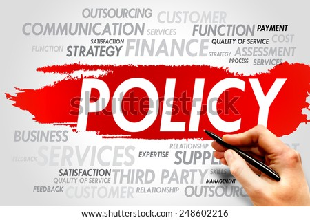 POLICY word cloud, business concept - stock photo