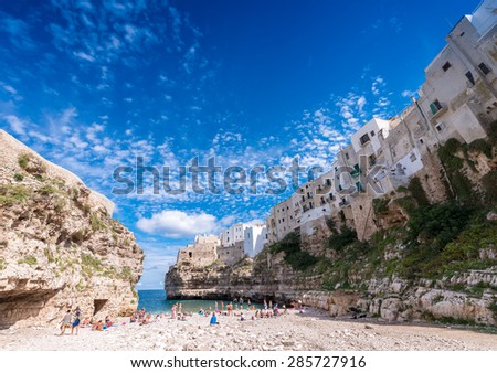 Polignano a Mare, Apulia.. - stock photo