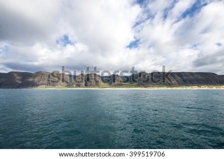Polihale Beach Park, Kauai, Hawaii - stock photo