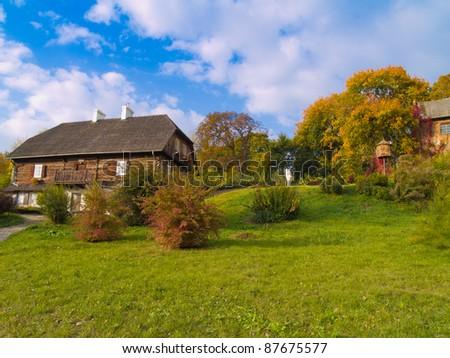 Polish countryside at autumn, Lublin, Poland - stock photo