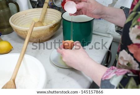 Polish cuisine, prepared tasty hot cheesecake with streusel. - stock photo