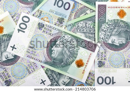 Polish money, a background - stock photo