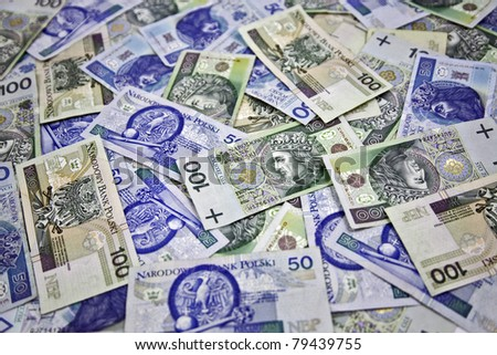 "Polish money ""100 and 50 zloty"" - stock photo"