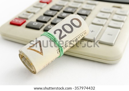 Polish money PLN - stock photo