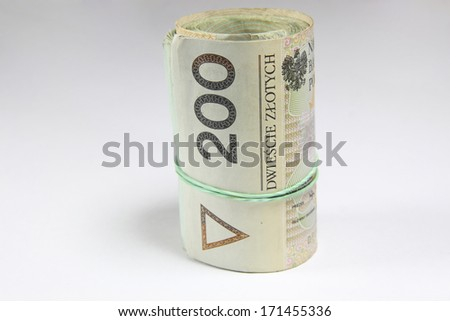 Polish money - Polish Zloty - stock photo