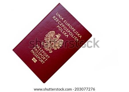 Polish passport - stock photo