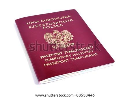Polish temporary pasport. - stock photo