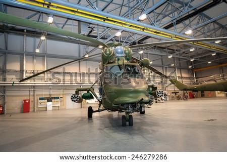 Polish W-3 HELICOPTER  - FALCON - stock photo