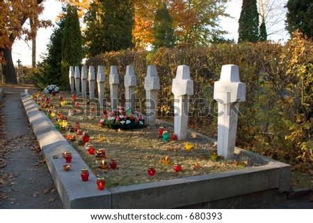 Polish war cementary - stock photo