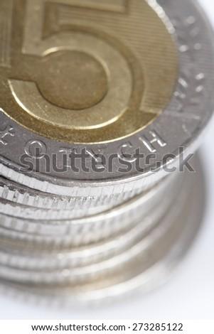 Polish Zloty Coin - stock photo
