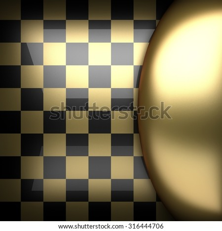 polished golden and black background