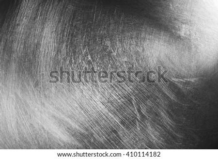 Polished metal background, close up - stock photo