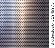polished metal grid background - stock photo