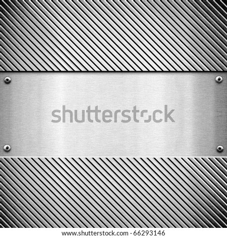 polished metal template - stock photo