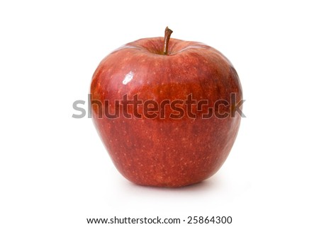 Polished red apple