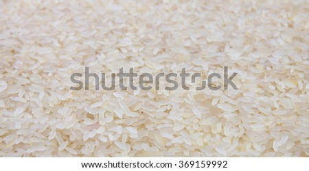 Polished rice as background - soft focus.