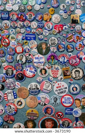 Political buttons - stock photo