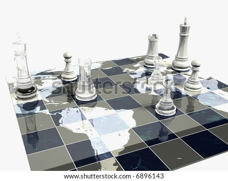 Political Chess Game - stock photo