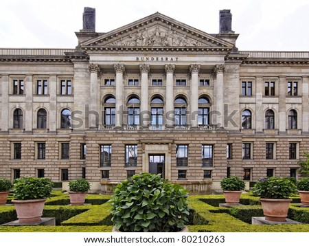Politicians building in Berlin Germany (Bundesrat) - stock photo