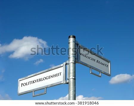 Politics mendacity - Candid officials - stock photo