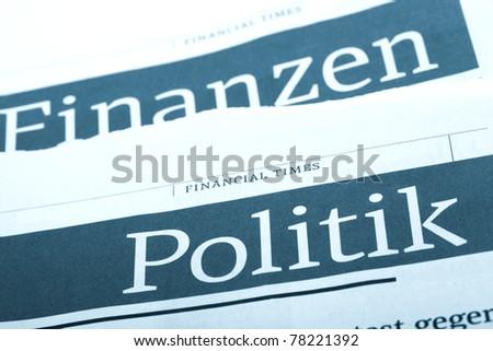 Politics news. - stock photo