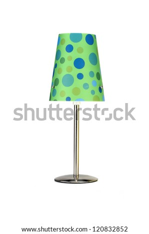 Polka Dot Lamp - stock photo