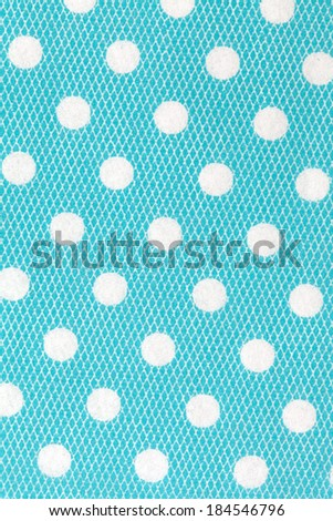polka dots patten on paper texture - stock photo
