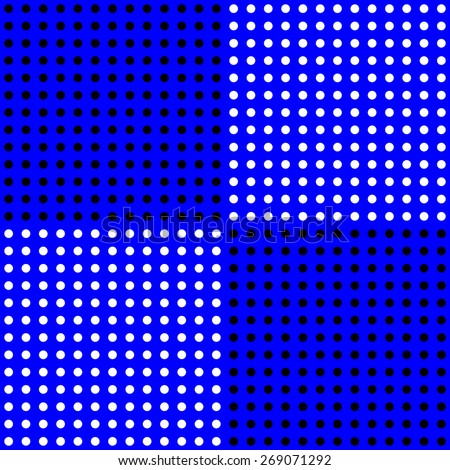 polka dots pattern on solid blue background - stock photo