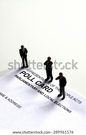 Poll card model candidate - stock photo