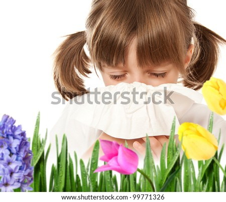 pollen allergy - hay fever - stock photo