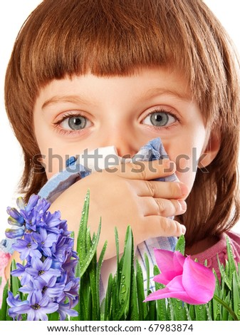 pollen fever allergy - stock photo