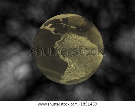 Polluted planet Earth - stock photo