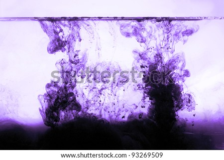 polluted water whit toxic poison - stock photo