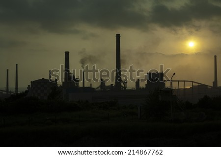 pollution - stock photo