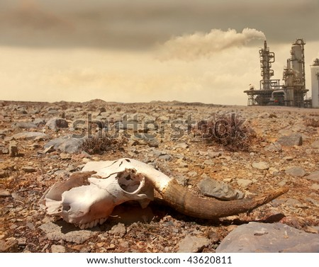 pollution concept photo - stock photo