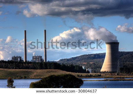 Pollution from a Coal Powered Power Plant