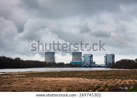 pollution of nature - stock photo
