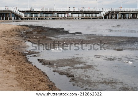 Pollution of the Baltic Sea. Sopot, Poland - stock photo